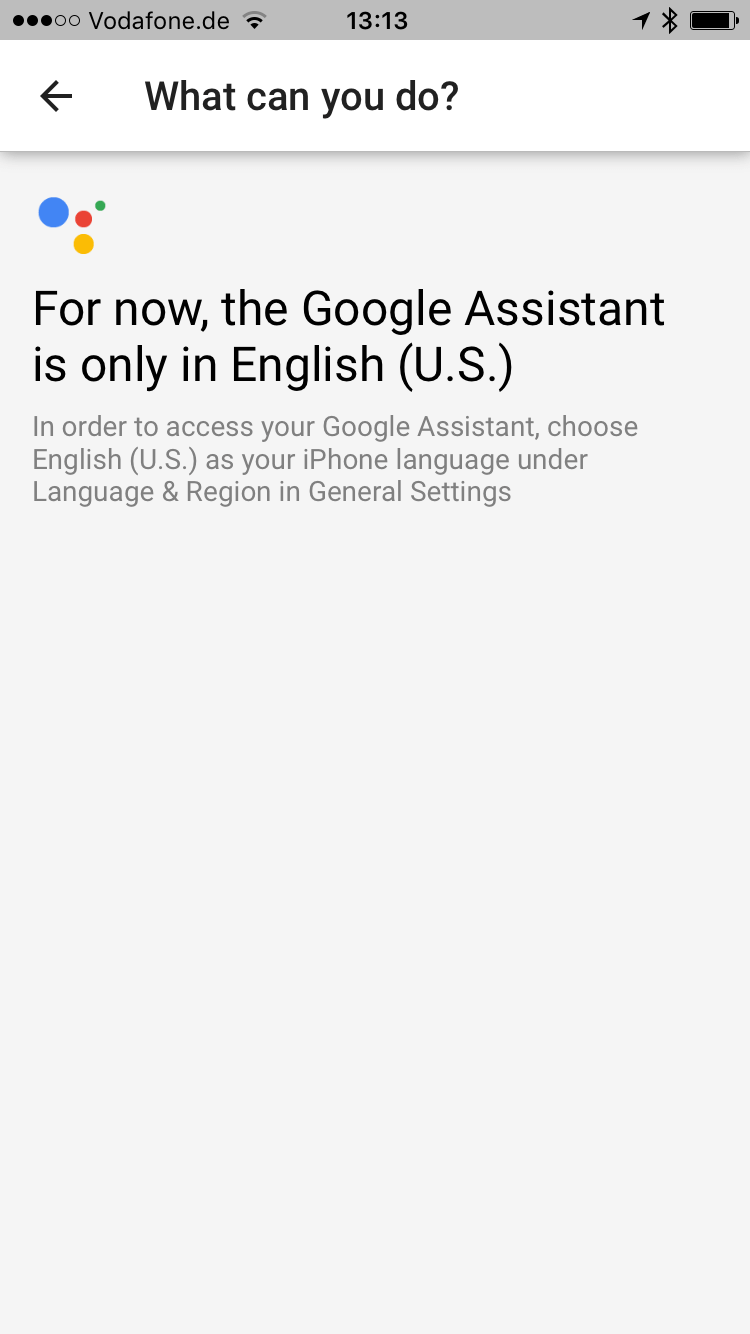 Google Home – Language Settings as Early Adopter